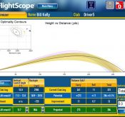 Screencap promoting the FlightScope golf launch monitor / golf ball tracker's driver optimizer.