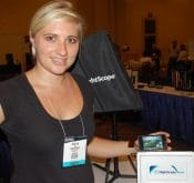 Photo from the PGA 2010 Expo where the FlightScope golf launch monitor was named as Best New Product.