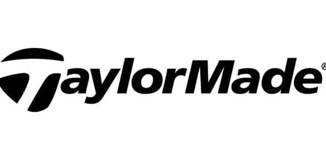 Logo of TaylorMade which uses FlightScope launch monitor / golf ball tracker to track their players' game data.