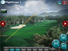 Screencap showing data gathered by a FlightScope golf launch monitor from a British Open game.