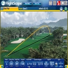 Screencap from a FlightScope golf launch monitor showing the performance of a player using an Infiniti 452 driver.