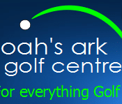 Logo of Noah's Ark Golf Centre which uses a FlightScope golf launch monitor / golf ball tracker for coaching and club fitting.