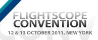 Photo promoting FlightScope's Golf Teaching and Club Fitting convention.