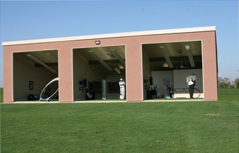 Photo of the Stevinson Learning Center which uses a FlightScope golf launch monitor for club fitting and golf coaching.