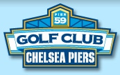 Logo of Chelsea Piers which uses a FlightScope launch monitor / golf ball tracker at their facility.