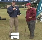 Video of FlightScope's David Nel being interviewed about the FlightScope golf launch monitor / golf ball tracker.