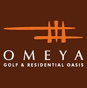 Logo of Omeya Golf which uses a FlightScope golf launch monitor for club fitting and golf coaching.