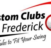 Logo of Custom Clubs of Frederic which uses a FlightScope golf launch monitor for club fitting.