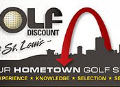 Illustration promoting Golf Discount of St. Louis which uses a FlightScope golf launch monitor for club fitting.
