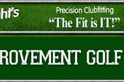 Poster for Tony Wright's Game Improvement Golf which uses a FlightScope golf launch monitor for club fitting.
