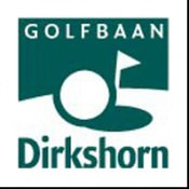 Logo of Golfbaan Dirkshorn which uses a FlightScope golf launch monitor / golf ball tracker for training sessions.