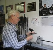 Certified club fitter Marcel Bal who uses a FlightScope launch monitor for golf club fitting.