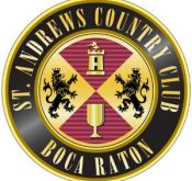 Logo of St. Andrews Country Club which uses a FlightScope golf launch monitor for club fitting.