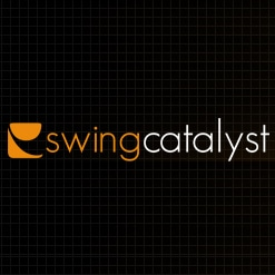 Logo of Swing Catalyst which can be integrated with the FlightScope golf launch monitor / golf ball tracker.