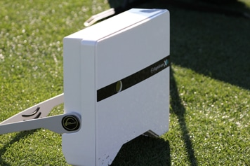 Photo from the Humana Challenge where a FlightScope golf launch monitor was used to track players' performance.