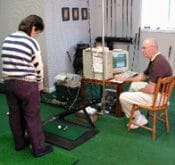 Photo from Dales Custom Clubs which uses a FlightScope golf launch monitor for golf club fitting.
