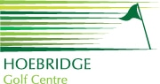 Logo of Hoebridge Golf Centre which uses a FlightScope golf launch monitor at their facility.