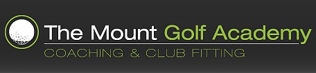 Logo of The Mount Golf Academy which uses a FlightScope golf launch monitor for club fitting and golf coaching.