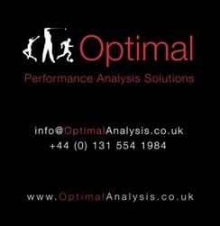 Poster promoting Optimal Coaching Studio which can be integrated with the FlightScope golf launch monitor.