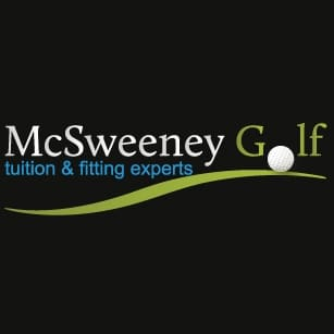 Logo of McSweeney Golf which uses a FlightScope golf launch monitor for instruction, swing analysis and club fitting.