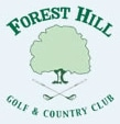 Logo of Forest Hill Golf Academy which uses a FlightScope golf launch monitor for custom club fitting.
