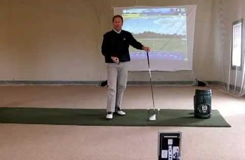 Golf driver video lesson with a FlightScope golf launch monitor / golf ball tracker.
