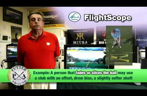 Putter Around's Richard Conragan explains how a FlightScope launch monitor can help correct spin axis issues.
