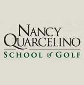 Logo of Nancy Quarcelino School of Golf which uses FlightScope launch monitors / golf ball trackers for golf club fitting.