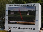 Photo from the 2012 BMW PGA Championship where FlightScope golf launch monitors / golf ball trackers were used.