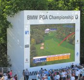 Photo from the BMW PGA Championship where FlightScope golf launch monitors were used to track players' performance.