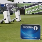 Photo from the 2012 British Open where FlightScope golf launch monitors / golf ball trackers were used.