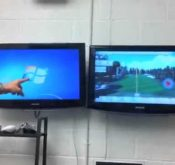 Photo of Graeme Bell Golf Lab giving viewers a preview of data from a FlightScope launch monitor.
