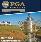 Photo of PGA Magazine which did a summer special on the FlightScope golf launch monitor / golf ball tracker.