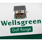 Logo of Wellsgreen Golf Range which uses FlightScope launch monitors for golf club fitting and golf coaching.