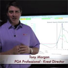 Photo of Tony Morgan of K-Vest which can be used with FlightScope golf launch monitors to gather player data.