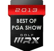 Logo of the 2013 Best of PGA Show where FlightScope was announced as one of the best exhibitors.