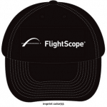 Product photo of a black FlightScope Hat from the FlightScope Store.
