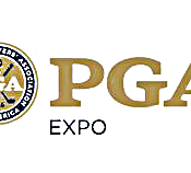 Logo of the PGA Expo where FlightScope Academy teaches users how to maximize FlightSscope launch monitors.