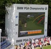 Photo from the BMW Championship where FlightScope golf launch monitors were used to track players' performance.
