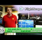 Richard Conragan explains how a FlightScope golf launch monitor can be used to determine launch angles.