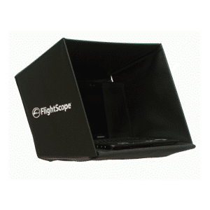 Product photo showing a FlightScope laptop hood with no stand from the FlightScope Store.
