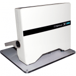 Product photo of base plates from the FlightScope Store shown with a FlightScope Xi T Box mounted on it.