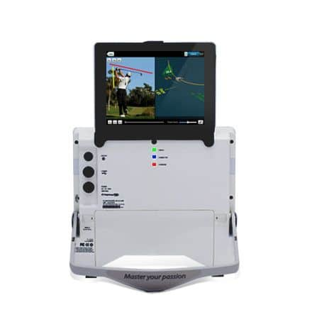 Product photo showing the FlightScope X2 launch monitor / golf ball tracker.