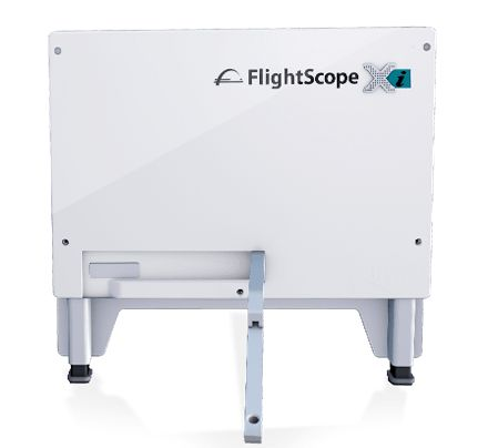 Product photo showing the FlightScope Xi launch monitor / golf ball tracker.