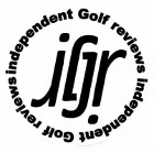Logo of the Independent Golf Review which demonstrated how to use FlightScope launch monitors for club fitting.