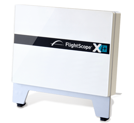 Photo showing the front panel of Flightscope's golf club fitting tool Flightscope Xi+