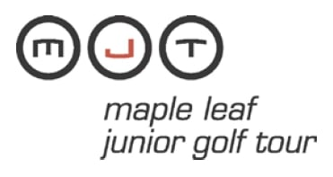 Logo of the Maple Leaf Junior Golf Tour which FlightScope is now supplying with launch monitors as part of a partnership.