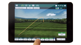 Photo showing sample data from the FlightScope Xi + launch monitor / golf ball tracker's complementary app.