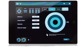 Photo showing a quick overview of the FlightScope Xi launch monitor's complementary Skills app's interface.