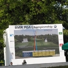 Photo from the 2014 BMW Championship where FlightScope launch monitors were used to track and display drives.